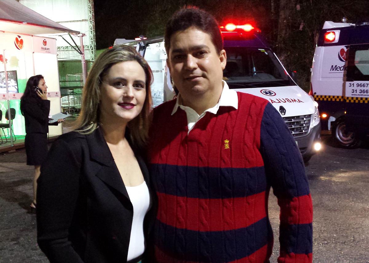 Acontecendo na Expo Usipa, o casal-empresário Mariley e Luciano Machado