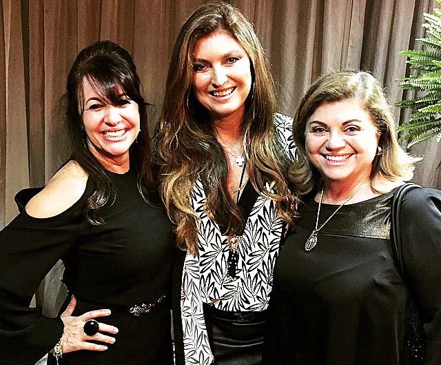 As empresárias Maria Zilda Torres, Vânia Dias e Fátima Salles, integrantes do Conselho da Mulher Empreendedoras