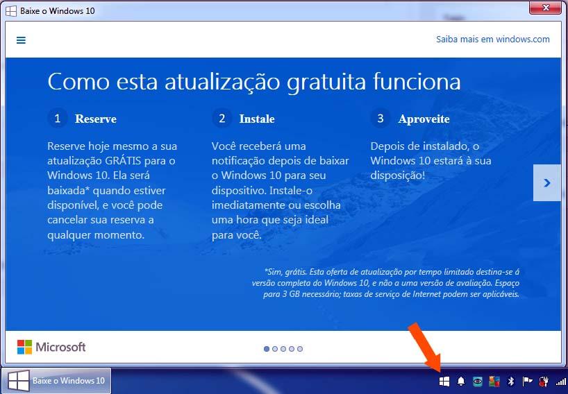Verifique a logomarca em branco do Windows em sua barra