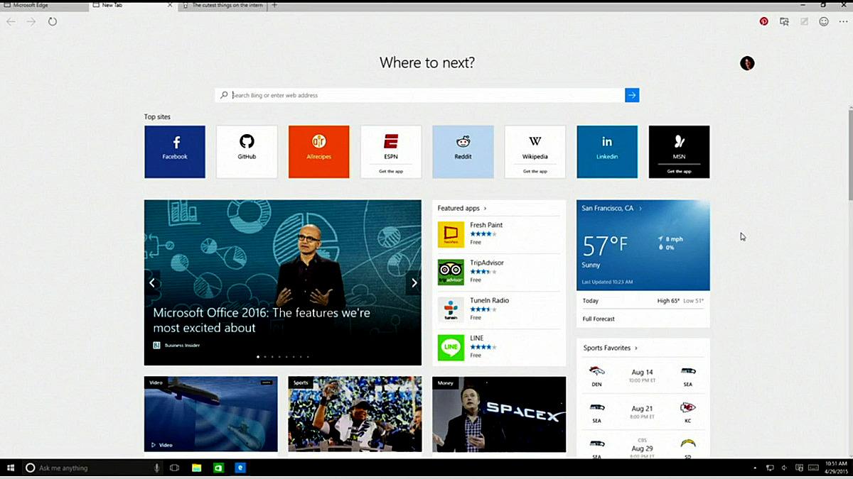 O novo navegador do Windows 10 foi desenvolvido do zero
