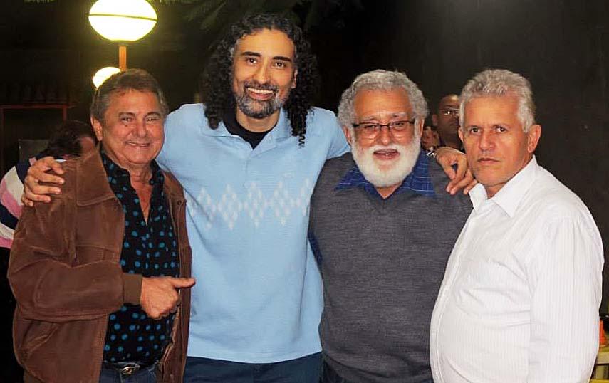 Os advogados Orlando Romero, Flávio Duarte, Adélio Duarte e William Rocha