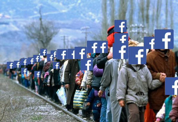 """Piadas nas redes: """"Twitter recebendo os refugiados do Face"""" (Foto: Reprodução Twitter)"""