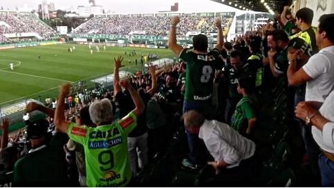 No jogo dos 'verdes', Chapecoense foi a zebra que derrubou Palmeiras na rodada. Foto: Site Oficial da CBF.